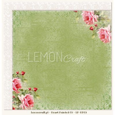 "Лист бумаги ""Hope"" коллекции ""Heart Painted"" (Lemon Craft), 30,5х30,5 см"