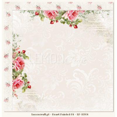 "Лист бумаги ""Melancholy"" коллекции ""Heart Painted"" (Lemon Craft), 30,5х30,5 см"