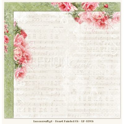 "Лист бумаги ""Sadness"" коллекции ""Heart Painted"" (Lemon Craft), 30,5х30,5 см"