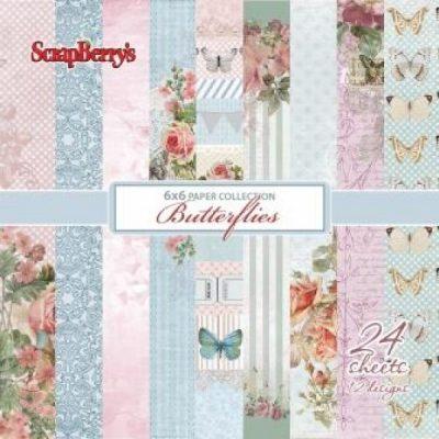 "Набор бумаги ""Бабочки"" (ScrapBerry's), 15х15 см, 24 л."