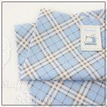 """Отрезок ткани """"Ромбы, голубой"""" (Корея),  хлопок, 45*35 см"""
