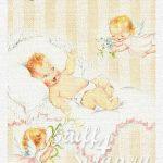 "Нашивка ""Младенец - 1"", лен или хлопок, 7х9 см"