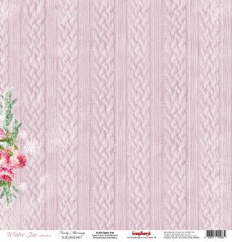 """Лист бумаги """"Морозный День"""", коллекция """"Зимнее Утро"""" (ScrapBerry's), 30х30 см"""