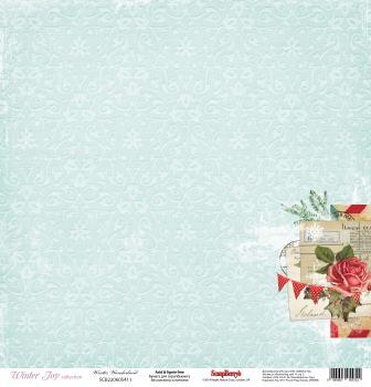"Лист бумаги ""Сказка"", коллекция ""Зимнее Утро"" (ScrapBerry's), 30х30 см"