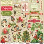 """Лист бумаги """"Рождественские Подарки"""", коллекция """"Ночь перед Рождеством"""" (ScrapBerry's), 30х30 см"""