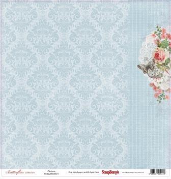 "Лист бумаги ""Виктория"", коллекция ""Бабочки"" (ScrapBerry's), 30х30 см"