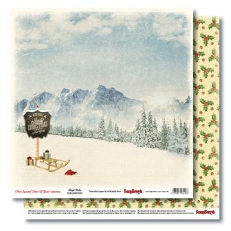 """Лист бумаги """"Праздник приходит"""", коллекция """"С Рождеством!"""" (ScrapBerry's), 30х30 см"""