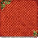 "Лист бумаги ""С Рождеством!"", коллекция ""С Рождеством!"" (ScrapBerry's), 30х30 см"