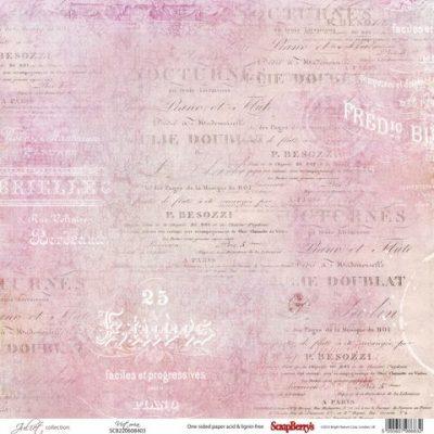 """Лист бумаги """"Виктория"""", коллекция """"Джульетта"""" (ScrapBerry's), 30х30 см"""