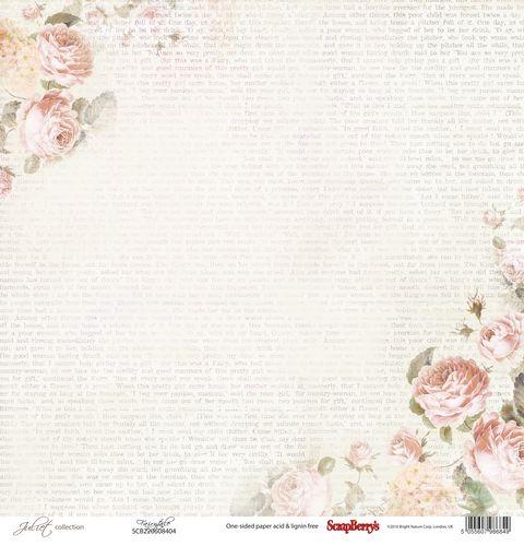 """Лист бумаги """"Сказка"""", коллекция """"Джульетта"""" (ScrapBerry's), 30х30 см"""