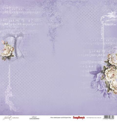 """Лист бумаги """"Грация"""", коллекция """"Джульетта"""" (ScrapBerry's), 30х30 см"""
