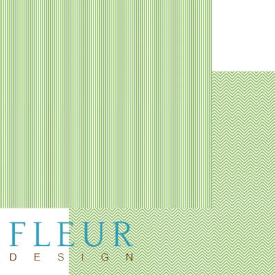 """Лист бумаги """"Светлая зелень"""", коллекция """"Чисто и просто Базовая"""" (Fleur design), 30х30 см"""