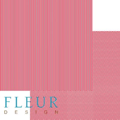 """Лист бумаги """"Яркий красный"""", коллекция """"Чисто и просто Базовая"""" (Fleur design), 30х30 см"""
