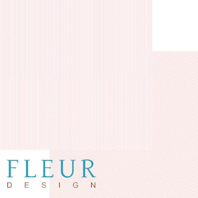 """Лист бумаги """"Ванильно - розовый"""", коллекция """"Чисто и просто Базовая"""" (Fleur design), 30х30 см"""
