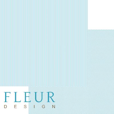 """Лист бумаги """"Нежный Тиффани"""", коллекция """"Чисто и просто Базовая"""" (Fleur design), 30х30 см"""