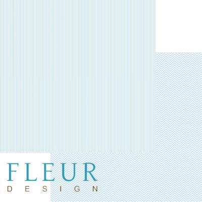 """Лист бумаги """"Небесный голубой"""", коллекция """"Чисто и просто Базовая"""" (Fleur design), 30х30 см"""