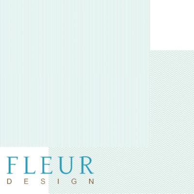 """Лист бумаги """"Аквамарин"""", коллекция """"Чисто и просто Базовая"""" (Fleur design), 30х30 см"""