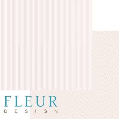 """Лист бумаги """"Светлый коралловый"""", коллекция """"Чисто и просто Базовая"""" (Fleur design), 30х30 см"""