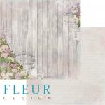"""Лист бумаги """"Переулок"""", коллекция """"Цветы прованса"""" (Fleur design), 30х30 см"""