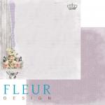 """Лист бумаги """"Розовый куст"""", коллекция """"Цветы прованса"""" (Fleur design), 30х30 см"""
