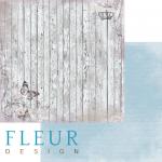"""Лист бумаги """"Старый забор"""", коллекция """"Цветы прованса"""" (Fleur design), 30х30 см"""