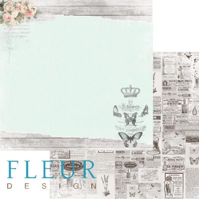 """Лист бумаги """"Счастье"""", коллекция """"Цветы прованса"""" (Fleur design), 30х30 см"""