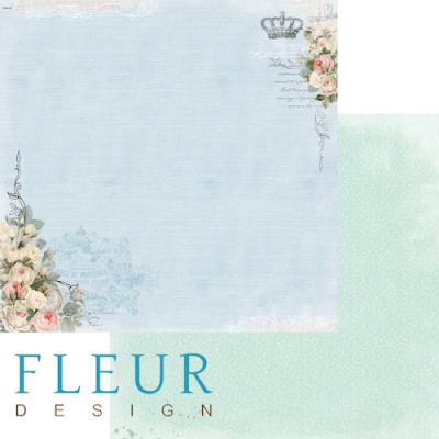 """Лист бумаги """"Цветочная синева"""", коллекция """"Цветы прованса"""" (Fleur design), 30х30 см"""
