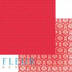 """Лист бумаги """"Яркий Красный"""" , коллекция """"Шебби Шик Базовая"""", 30х30 см (Fleur design)"""