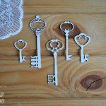 "Чипборд ""набор Ключи"" (Просто небо), 5 шт."
