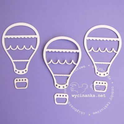 "Чипборд ""Ажурный воздушный шар 3D"""" (Wycinanka), 1 шт."