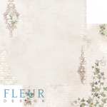 "Лист бумаги ""Абигейл"", коллекция ""Джентиль"" (Fleur design), 30х30 см"