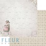 """Лист бумаги """"Прогулка Луизы"""", коллекция """"Джентиль"""" (Fleur design), 30х30 см"""