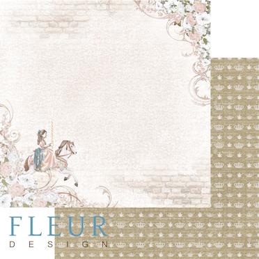 """Лист бумаги """"Каприз"""", коллекция """"Джентиль"""" (Fleur design), 30х30 см"""