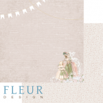 "Лист бумаги ""Променад"", коллекция ""Джентиль"" (Fleur design), 30х30 см"