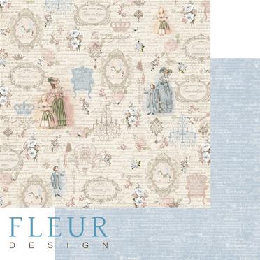 """Лист бумаги """"Восхищение"""", коллекция """"Джентиль"""" (Fleur design), 30х30 см"""