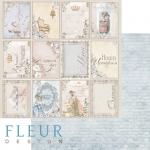 """Лист бумаги """"История семьи"""", коллекция """"Джентиль"""" (Fleur design), 30х30 см"""