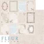 """Лист бумаги """"Волшебные моменты"""", коллекция """"Джентиль"""" (Fleur design), 30х30 см"""