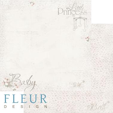 """Лист бумаги """"Малыш"""", коллекция """"Наш малыш Девочка"""" (Fleur design), 30х30 см"""