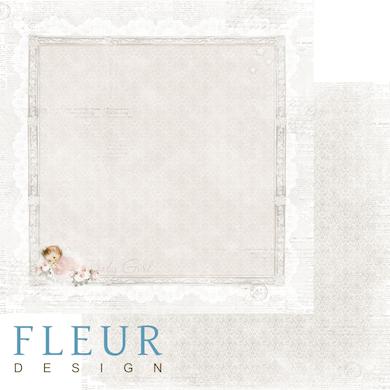 """Лист бумаги """"Моя девочка"""", коллекция """"Наш малыш Девочка"""" (Fleur design), 30х30 см"""