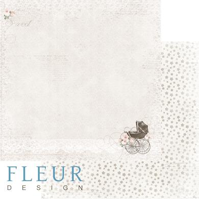 """Лист бумаги """"Прогулка"""", коллекция """"Наш малыш Девочка"""" (Fleur design), 30х30 см"""