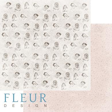 """Лист бумаги """"Моменты"""", коллекция """"Наш малыш Девочка"""" (Fleur design), 30х30 см"""