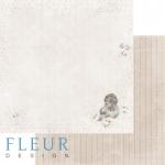"""Лист бумаги """"Нежность"""", коллекция """"Наш малыш Девочка"""" (Fleur design), 30х30 см"""