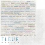 """Лист бумаги """"Главные слова"""", коллекция """"Наш малыш Мальчик"""" (Fleur design), 30х30 см"""