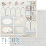 """Лист бумаги """"Теги"""", коллекция """"Наш малыш Мальчик"""" (Fleur design), 30х30 см"""