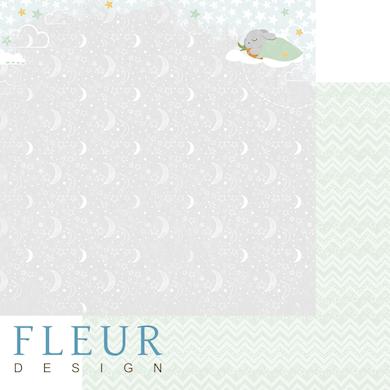 """Лист бумаги """"Звёздная ночь"""", коллекция """"В облаках"""" (Fleur design), 30х30 см"""