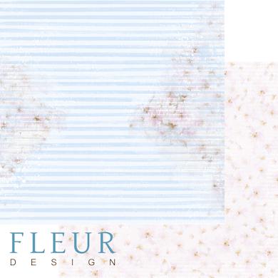 """Лист бумаги """"Сквозь полосы"""", коллекция """"Мой день"""" (Fleur design), 30х30 см"""