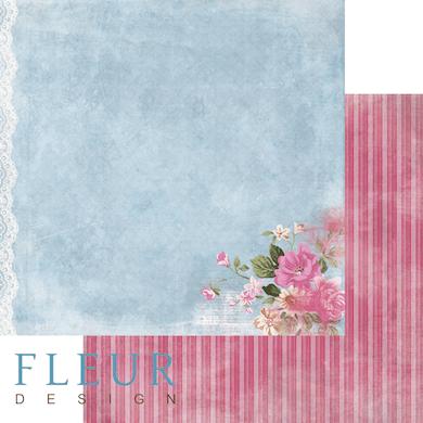 "Лист бумаги ""Восемь утра"", коллекция ""Летний сад"" (Fleur design), 30х30 см"