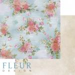 """Лист бумаги """"Гардении"""", коллекция """"Летний сад"""" (Fleur design), 30х30 см"""