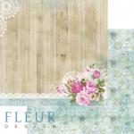 """Лист бумаги """"Цветы и кружево"""", коллекция """"Летний сад"""" (Fleur design), 30х30 см"""