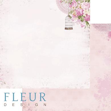 """Лист бумаги """"Тайна Соловья"""", коллекция """"Летний сад"""" (Fleur design), 30х30 см"""